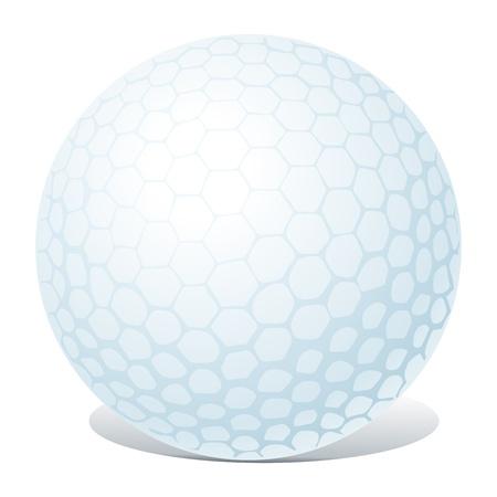 golf ball isolated Stock Vector - 14092878