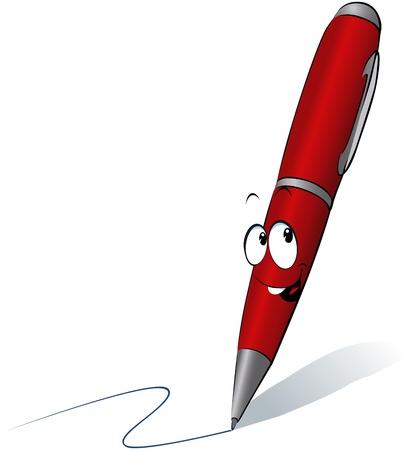levelezés: furcsa piros toll rajzfilm írása