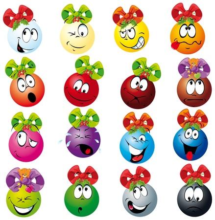 exited: xmas balls decoration Illustration