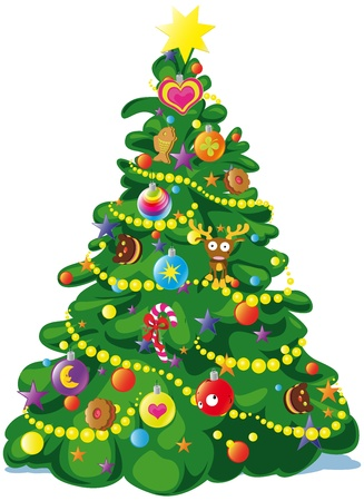 winter tree: christmas tree