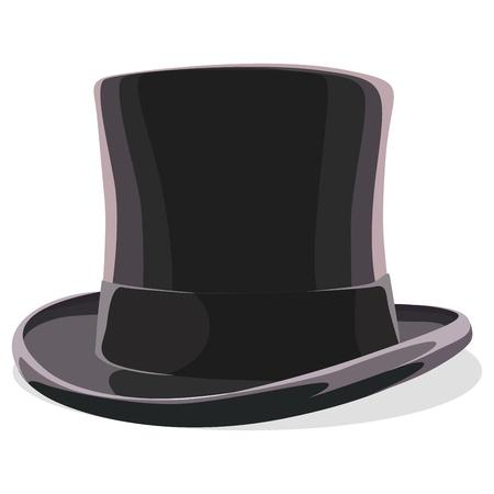 black hat: sombrero negro aislado en blanco