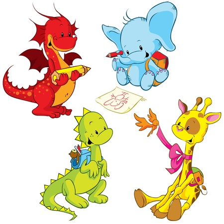 cartoon animals - small Vector