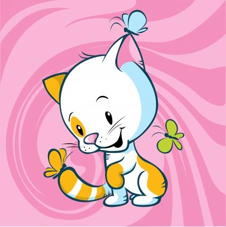 encantador: cute kitty jogo com borboleta