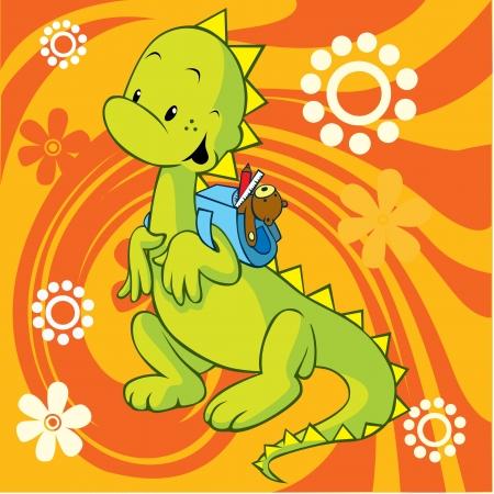 dinosaurio caricatura: dino