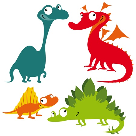dragon, dinosaur and lizard Vector