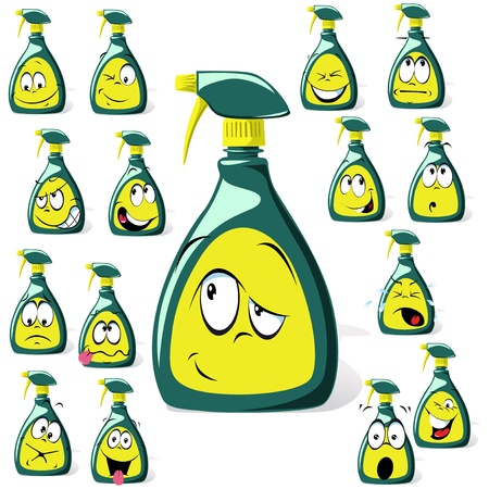 spray bottle cartoon Stock Vector - 14872786