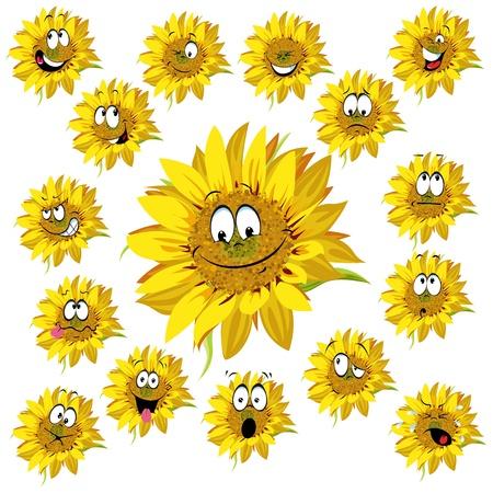 blumen cartoon: Sonnenblumen cartoon Illustration