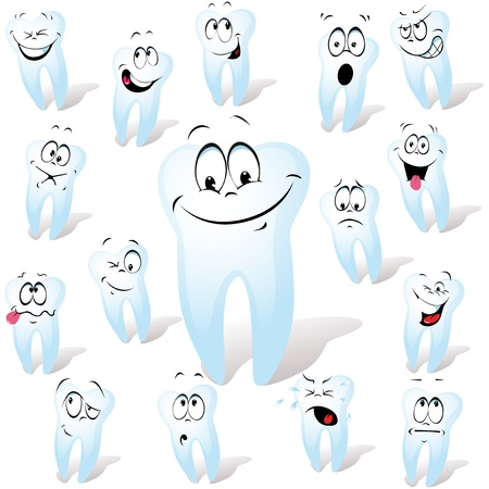 dientes caricatura: diente