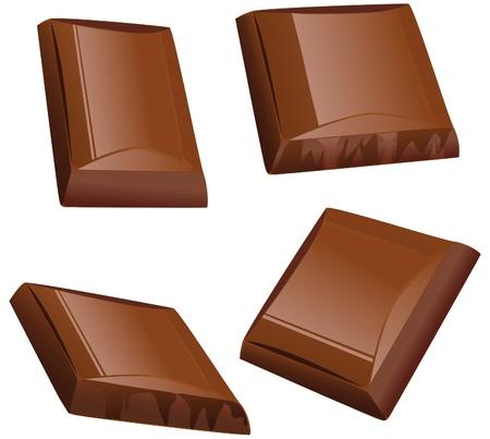 chocolate piece  Vector