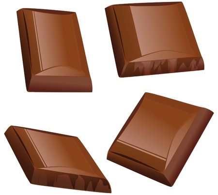 chocolate piece Stock Vector - 14872720