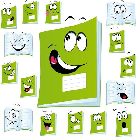 sobresalir: ejercer libro con dibujos animados