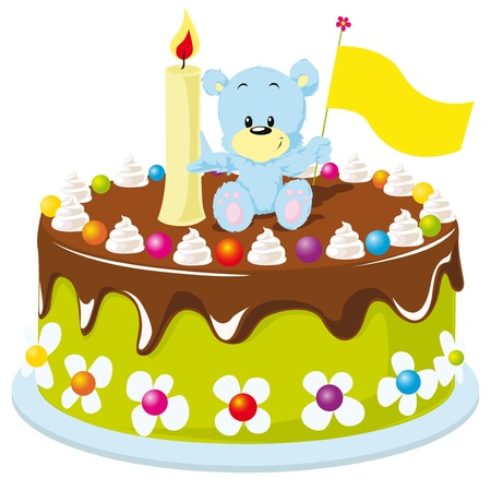 happy birthday cake for baby Stock Vector - 14872724