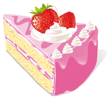 art piece: strawberry cake