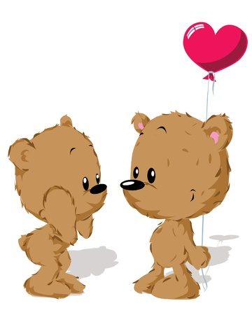 valentine bear couple Stock Vector - 14951701