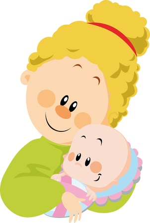 mum and baby Stock Vector - 14951723