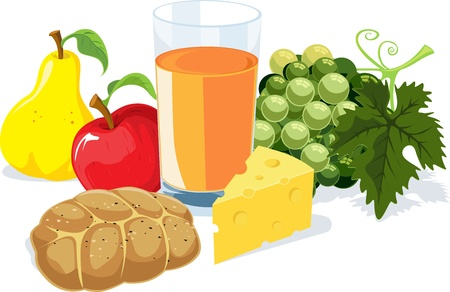 healthy brunch Stock Vector - 14951730