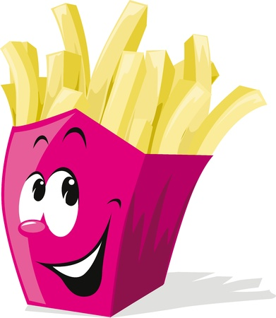 fried potatoes: french fries Illustration