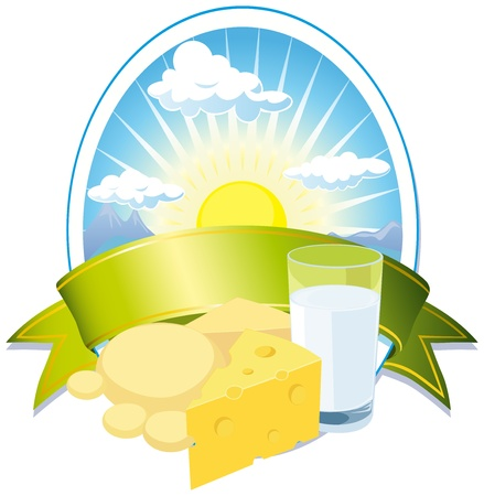 gouda: milk and cheese label