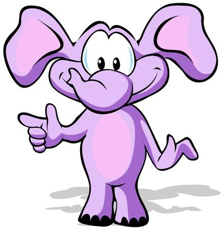 babyish animal: cute elephant