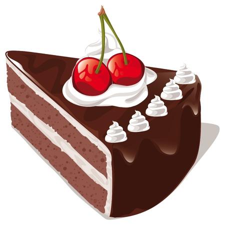 porcion de pastel: pastel de chocolate