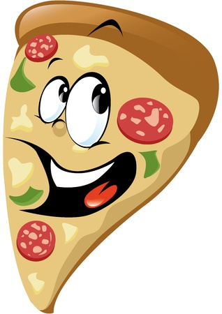 pepperoni pizza: Pizza cartoon  Illustration