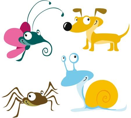 mosca caricatura: animal de la historieta
