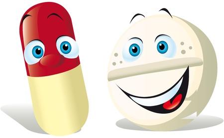 vitamina a: p�ldora aisladas sobre fondo blanco