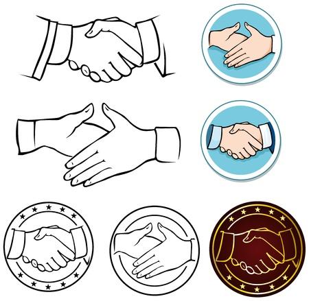 saludo de manos: apret�n de manos