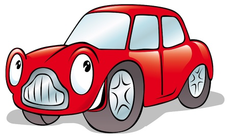 humorous: happy cartoon car Illustration