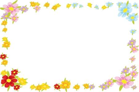 floral spring frame Stock Vector - 15017226