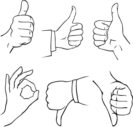 cachet: gesture hand Illustration