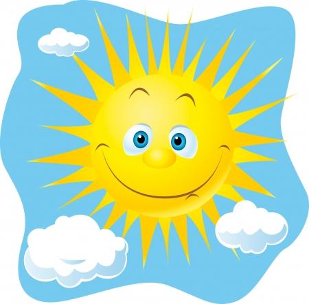 楽観: py 太陽  イラスト・ベクター素材