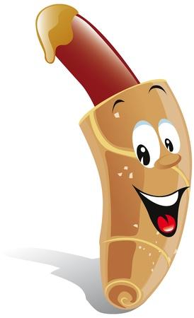 dibujos animados hot dog