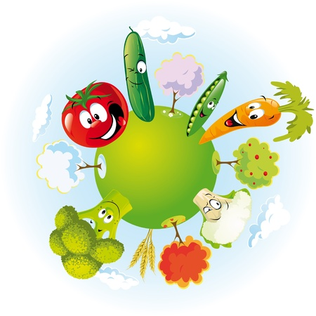 sweet pea: vegetable planet Illustration
