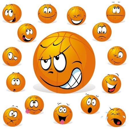 ballon basketball: basket-ball avec de nombreuses expressions