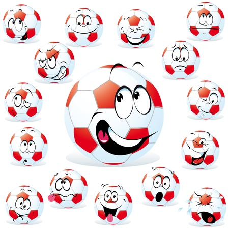 handball cartoon wit many expressions Vector