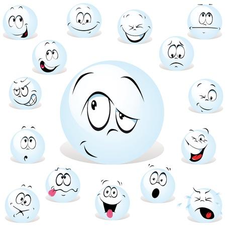 pelota caricatura: pong expresiones de dibujos animados ingenio muchos