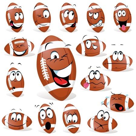 pelota caricatura: rugby pelota