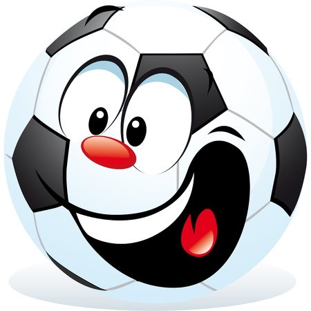 eye ball: cartoon soccer ball