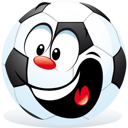 football match: fumetto pallone da calcio Vettoriali