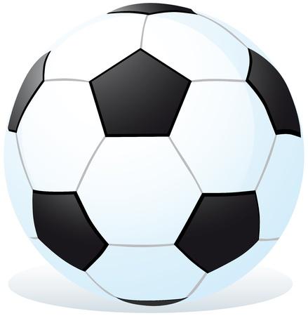 ballon foot: dessin anim� ballon de football Illustration