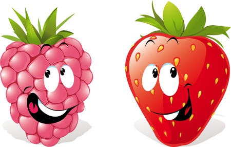 raspberry pink: strawberry and raspberry