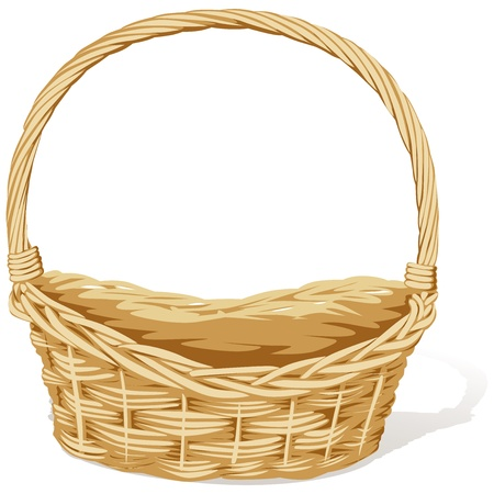 wicker: empty vector basket