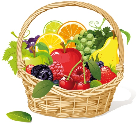 apples basket: fruit basket