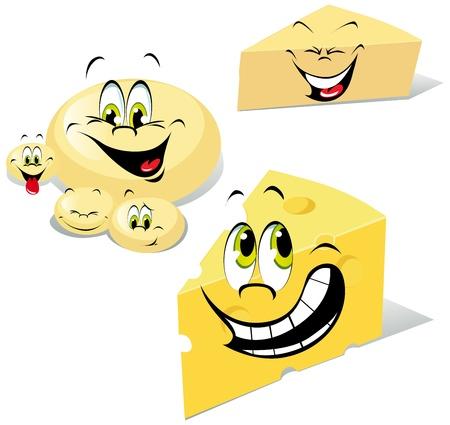 cheeses cartoon Illustration