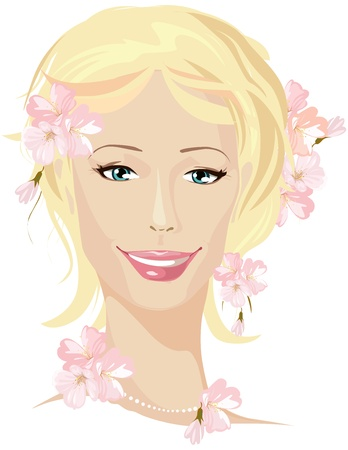 ing beautiful woman portrait  Vector