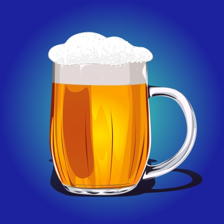 Mug fresh beer illustration Vector