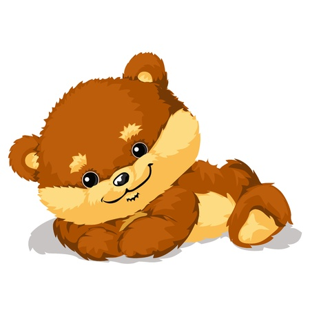 stuffed animals: Illustration of cute Bear