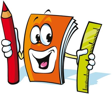 Funny exercise book cartoon Standard-Bild - 15171983