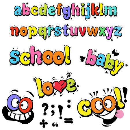 cartoon funny letters